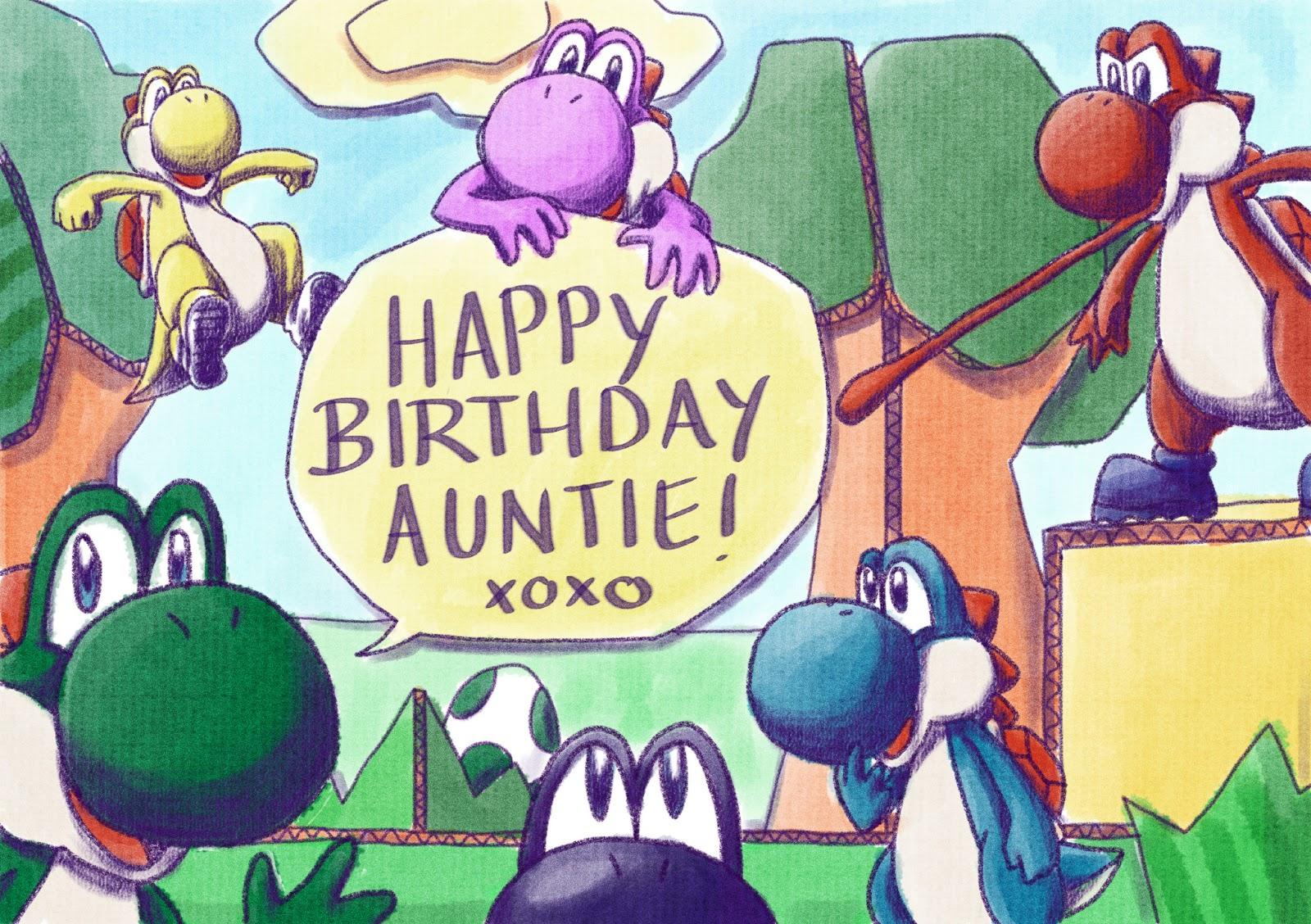 Geegrevesy illustration yoshi story birthday card yoshi story birthday card bookmarktalkfo Image collections
