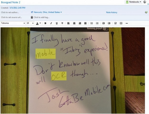Evernote Handwriting