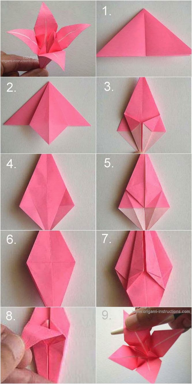 Instructions On How To Make Origami Flowers Origami Instructions