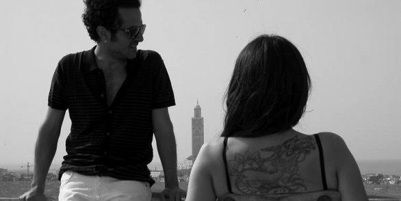 fotograma del videoclip con Sr. Nadie y Amaral en Casablanca