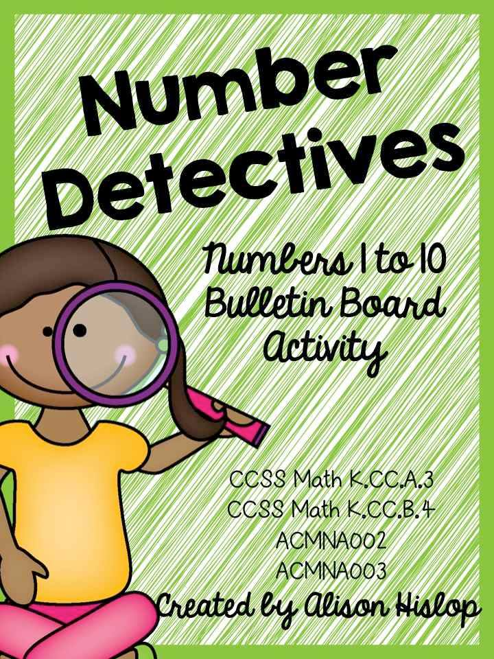 https://www.teacherspayteachers.com/Product/Number-Detectives-Numbers-to-10-Bulletin-Board-Set-1709116