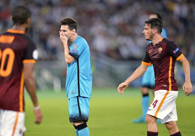 Messi completou 100 jogos pela Liga dos Campeões, mas passou em branco nesta quarta (foto: ANDREAS SOLARO / AFP)