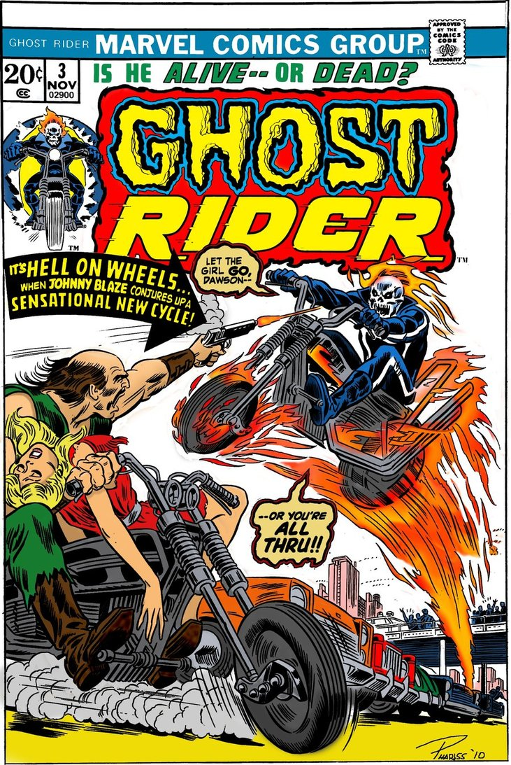 Classic Comic Book Cover : Moto n classic ghost rider comic book covers