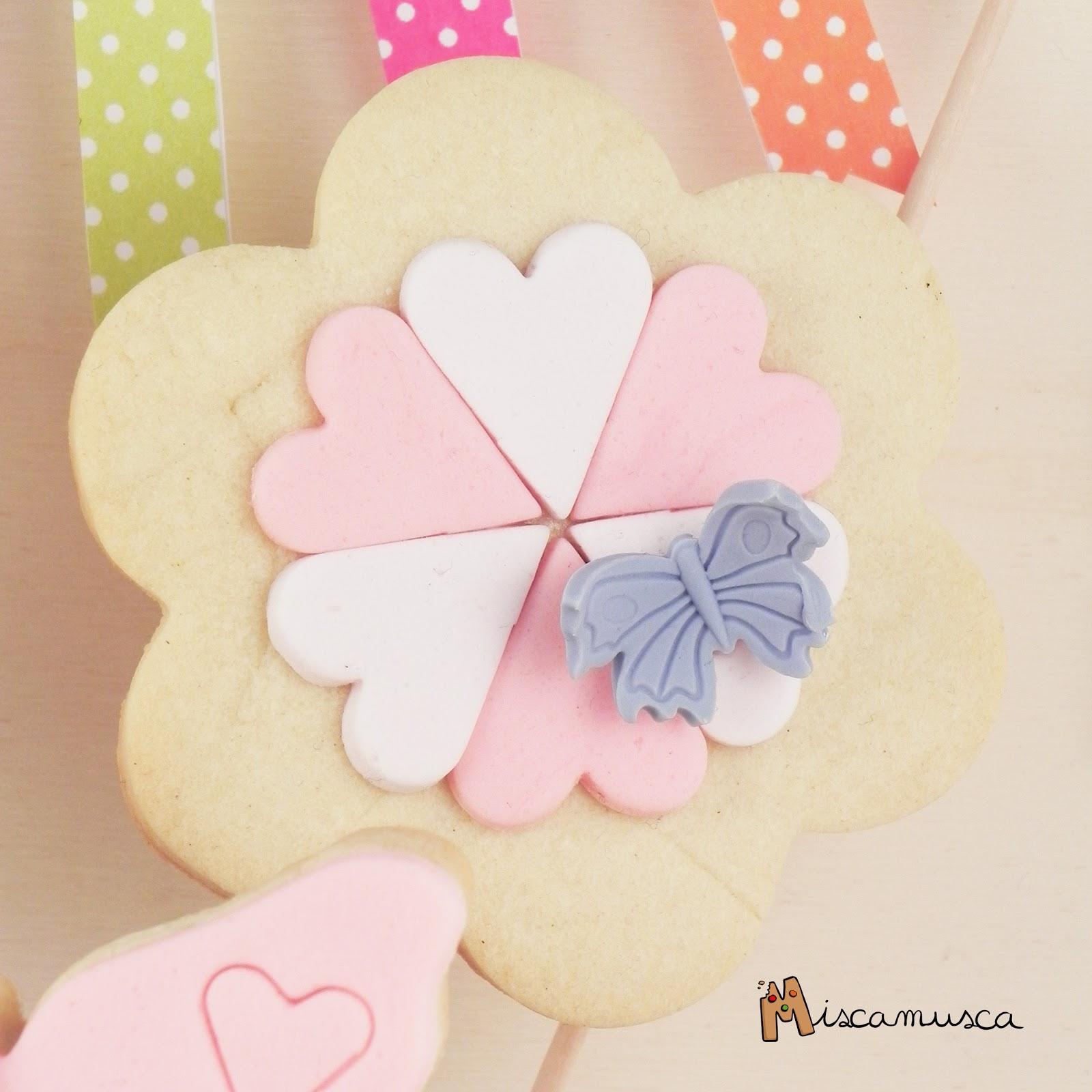 Detalle bouquet flores galleta para mamá