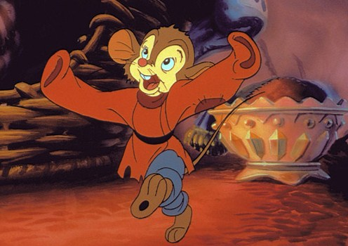 "Fievel dancing ""An American Tail"" 1986 disneyjuniorblog.blogspot.com"