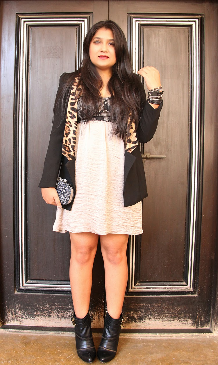 Mini dress with Tuxedo jacket