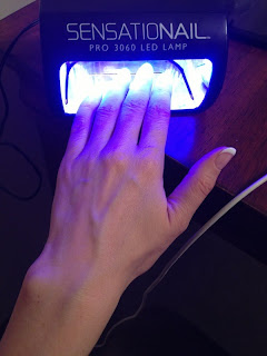 Gel Polish Cure Sensationail LED lamp