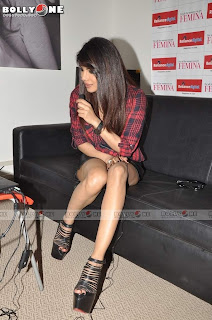 Priyanka Chopra Looks Super Cute @ Launch of Femina Magazine Power Issue Sep 2013