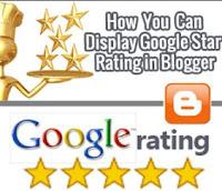 Cara membuat Star Rating di Blogger