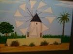 Molino de viento típico de Cartagena