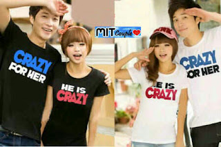 Crazy For (putih,hitam) , sweater couple online