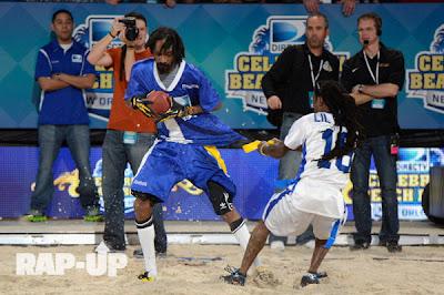 fotos de lil wayne y snoop dogg jugando un partido de rugby playa