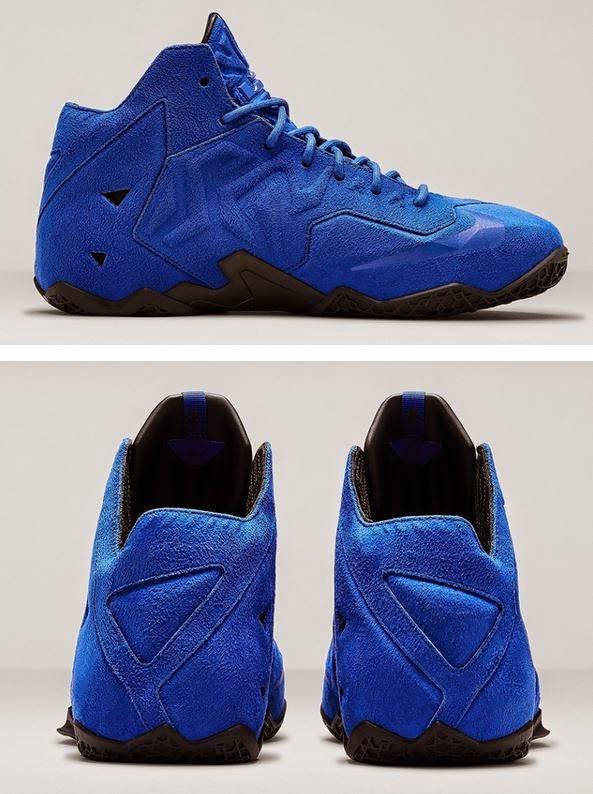 "THE SNEAKER ADDICT: Nike LeBron 11 EXT ""Blue Suede ..."
