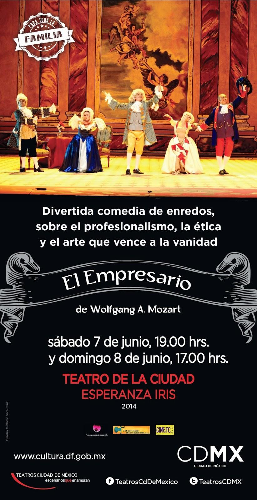 """La obra """"El Empresario"""" de Mozart se presenta en el Teatro de la Ciudad"""