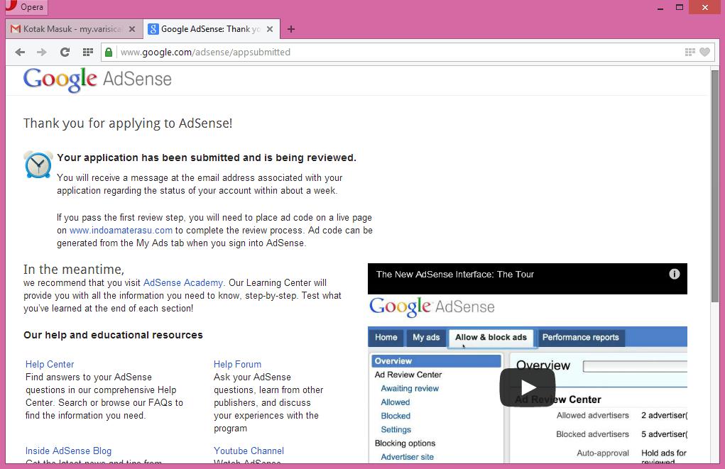 Cara Daftar Google Adsense Dengan Mudah 7