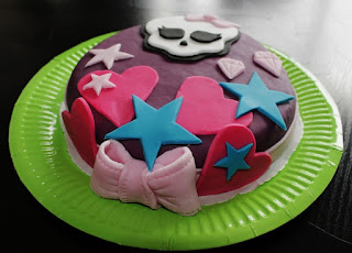 tarta monster high, tarta fondant