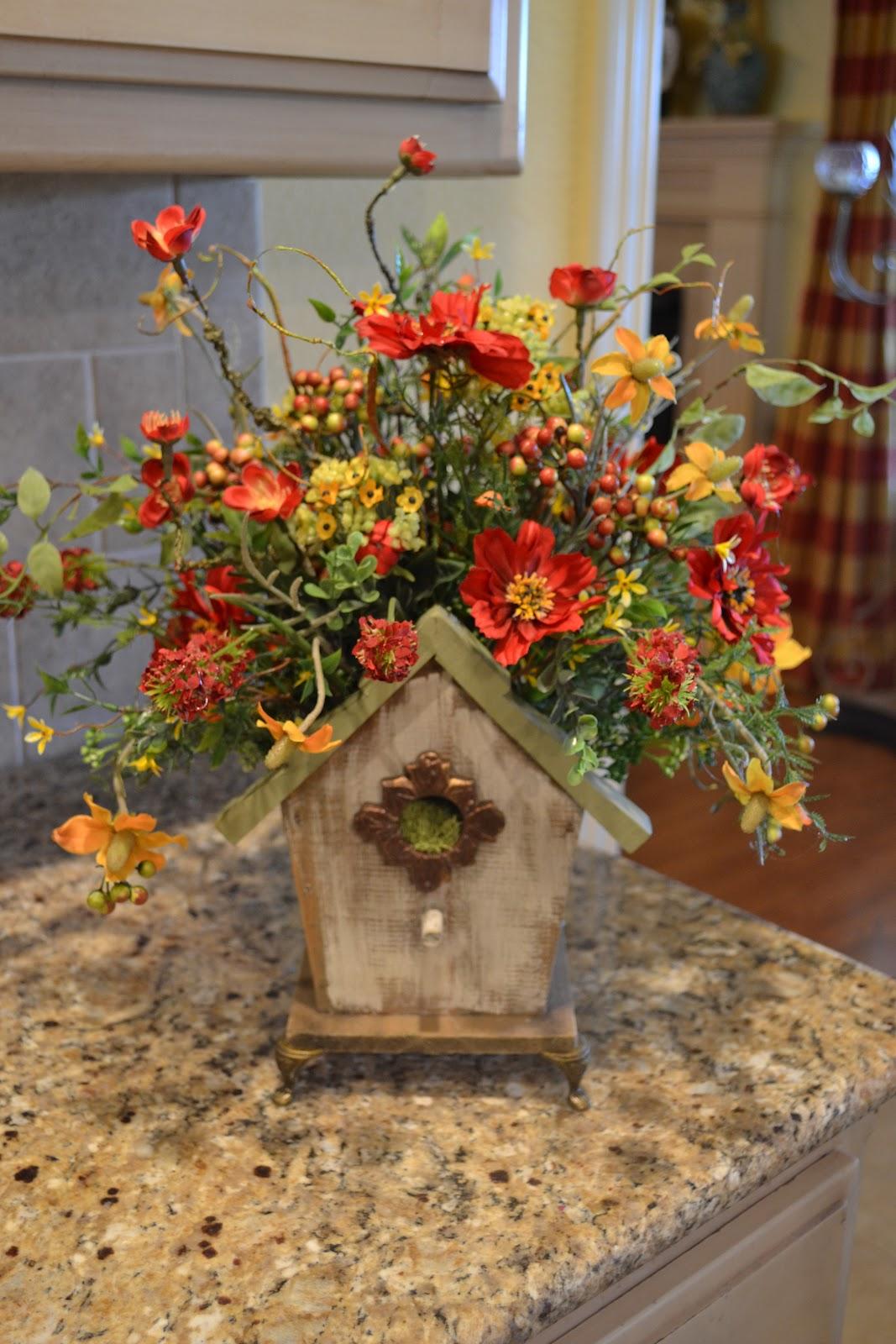 Kristen 39 s creations new etsy store arrangements for Autumn flower decoration