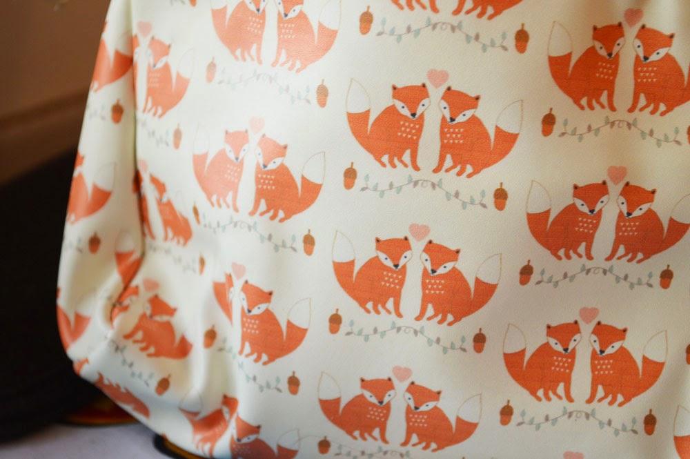 Sass and Belle fox print bag