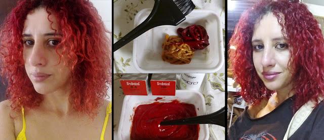 Antes e depois coloração com Alfaparf 8.4 com Red Booster - Blog Mineira sem Freio