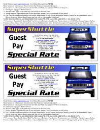 Supershuttle discount coupon
