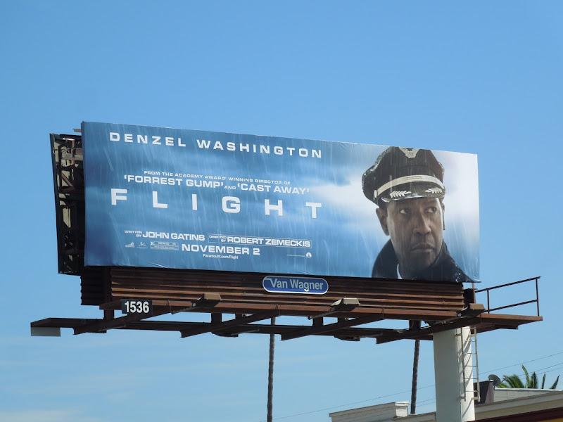 Denzel Washington Flight movie billboard