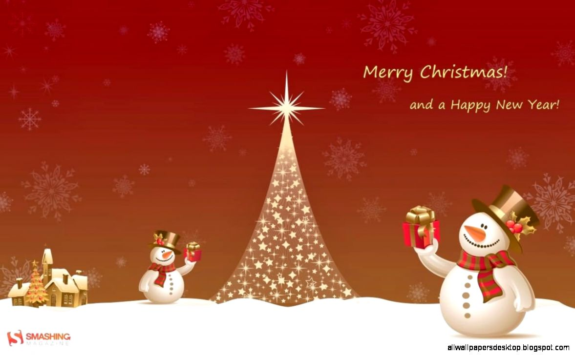 Merry Christmas Tree And A Happy New Year Snowman Gifts Picture