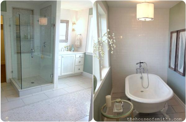 Good spa like bathroom design claw foot tub subway tiles