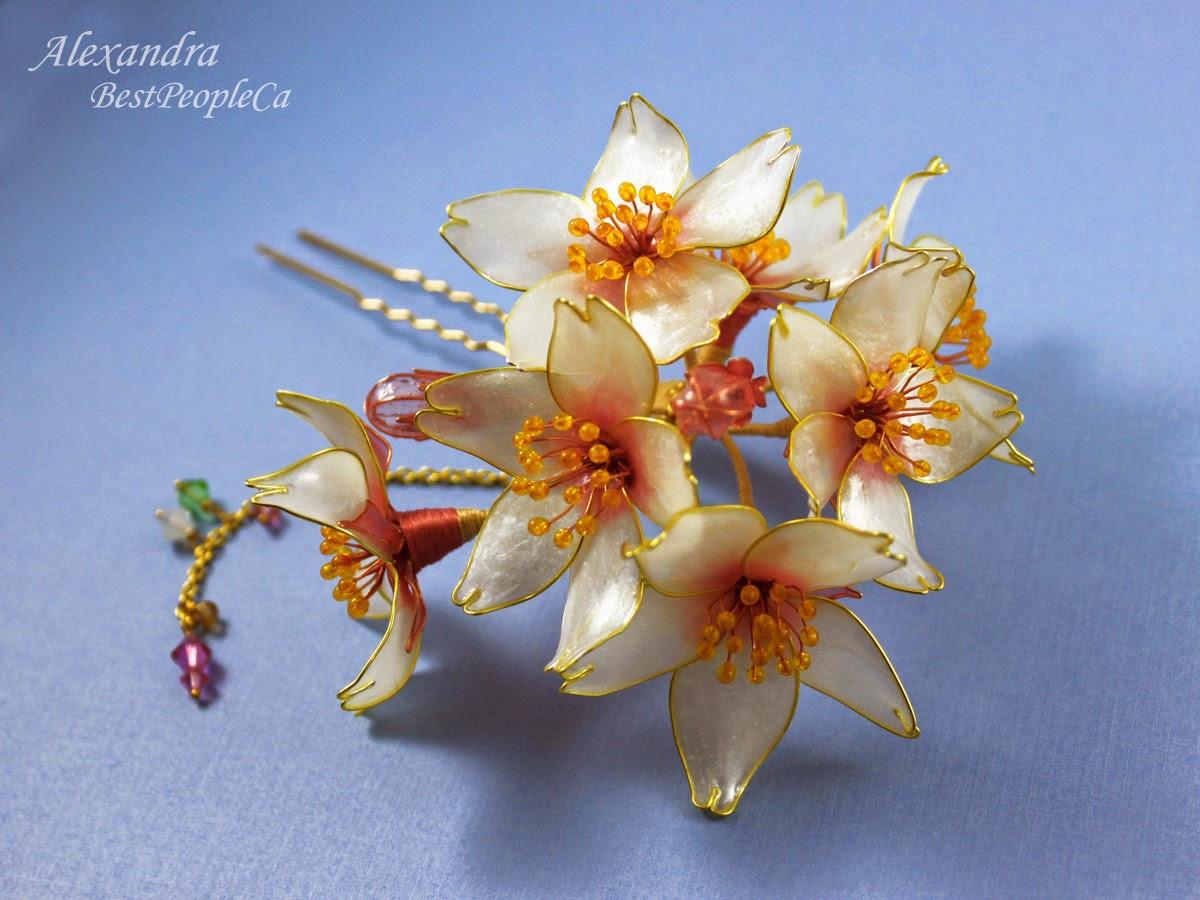 Cherry Blossom hairpin