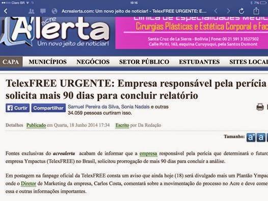 Telexfree: empresa responsável pela perícia solicita 90 dias para concluir o relatório