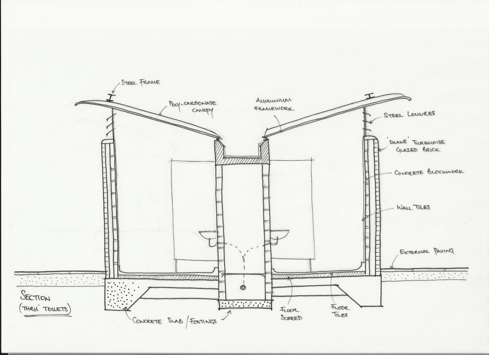 Toilet Construction Drawing : Turquoise island a case study