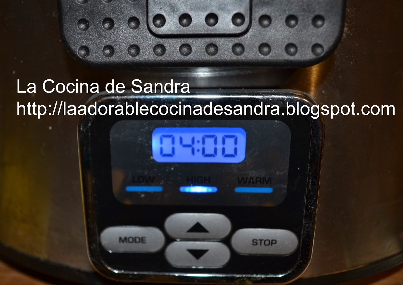 POLLO EN SALSA DE VINO BLANCO EN CROCK POT