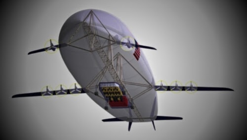 FLYING HOUSE Futuristic Transport Airship
