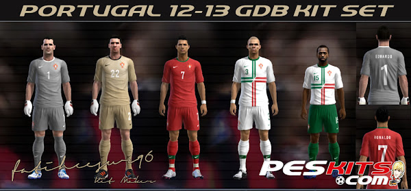 PES 2012 Portugal 12/13 Kits by fatihcesur96