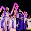 Foto 2: Fatin Shidqia dan Shena Saat tampil TABLIGH AKBAR (Masjid Kubah Mas, Depok)