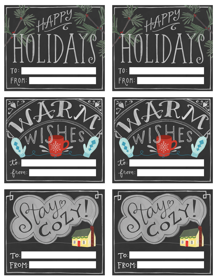 No need to spend extra on holiday gift tags this year; use these 16 FREE Printable Gift tags to label all the presents under the tree!