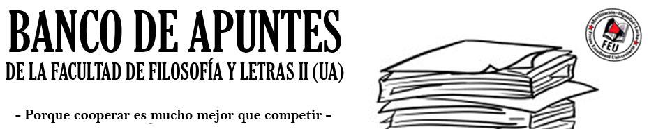 Banco de Apuntes de la Facultad de Filosofía y Letras II (UA)