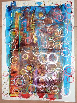 Richter et empreintes de ronds en petite section