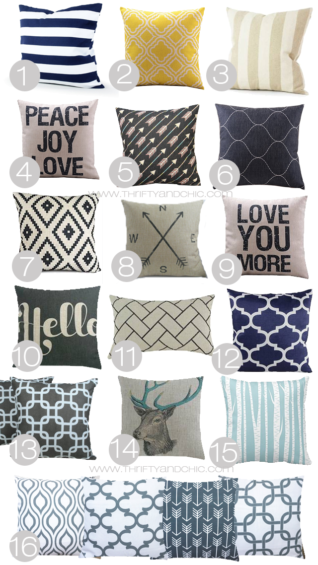 Great site to find cute and cheap pillow cases! All under $10...some even under $5!