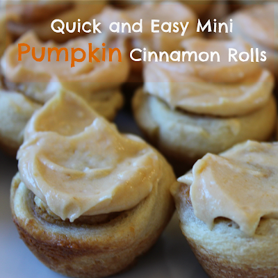 Mini Pumpkin Cinnamon Rolls