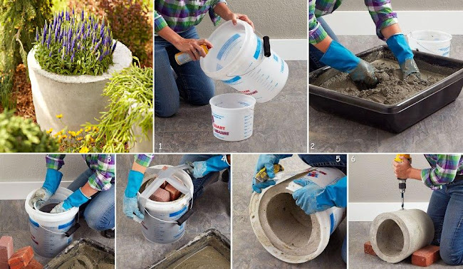 Easy Way To Make Concrete Planter