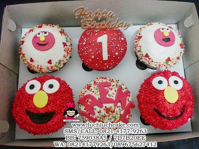 Cupcake Buttercream Elmo Cute Daerah Surabaya - Sidoarjo