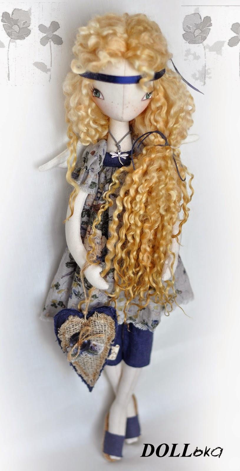 ангел текстильная кукла ручной работы