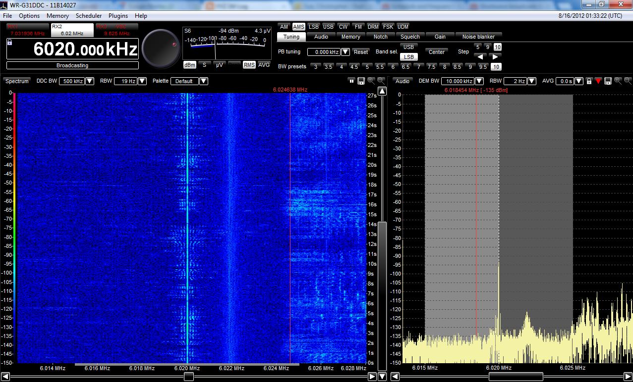 Signals Kind Of Weak On 6020 KHz
