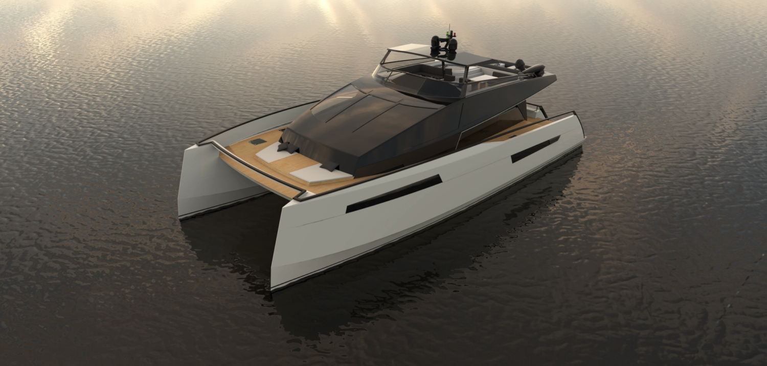 Luxury Catamaran Ml Power 70 A Modern Look Catamaran By