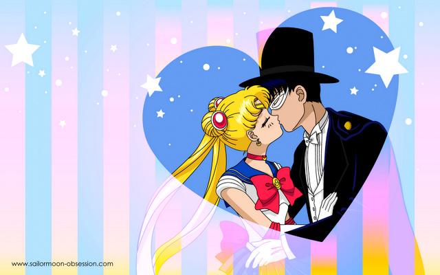 sailor moon tuxedo mask and sailor moon