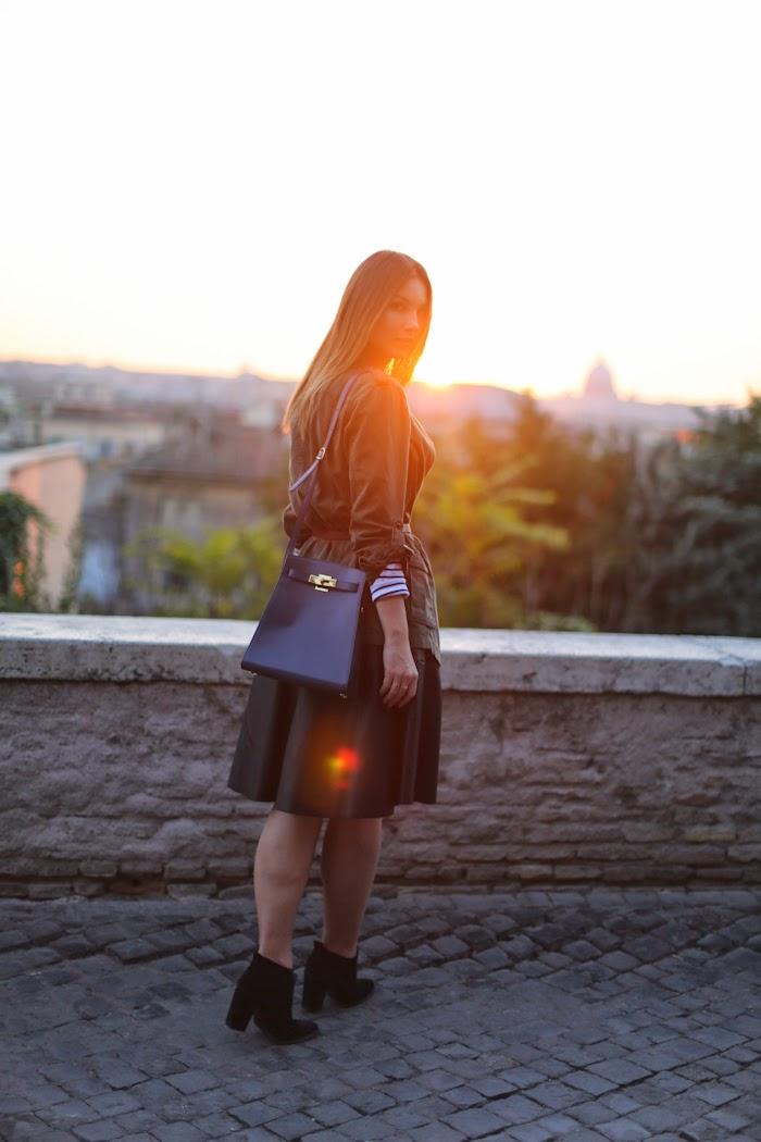SUNSET ROME VINTAGE HERMES