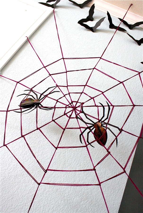 giant yarn spider web