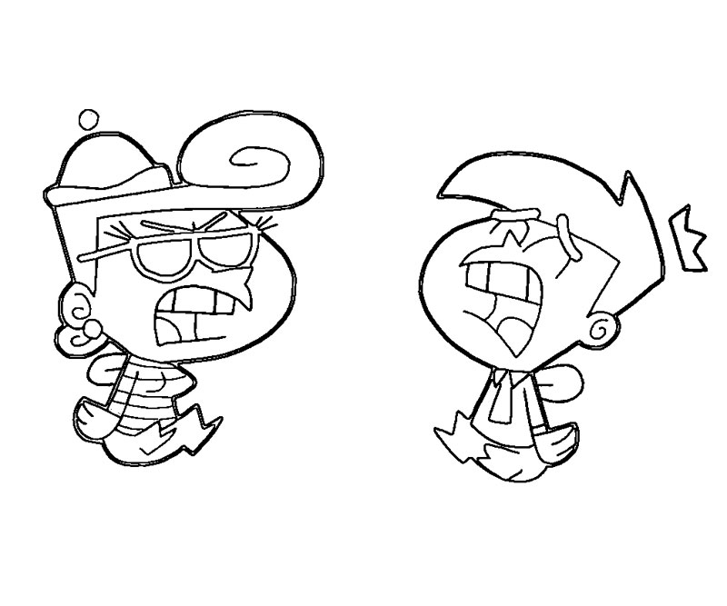 fairly oddparents printable coloring pages - photo#37