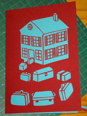 papercut card déménagement