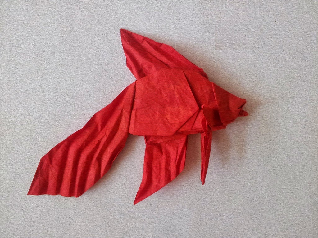easy origami fish for kids ~ origami flower easy - photo#5
